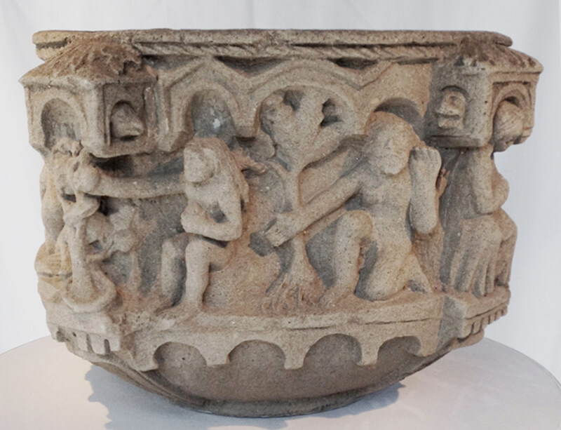 Baptismal Font (12th Century Sandstone)