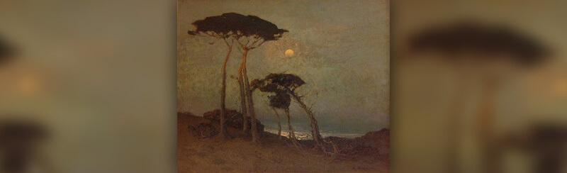 Cypress at Monterey, California (ca. 1914-1920 Oil on Canvas)