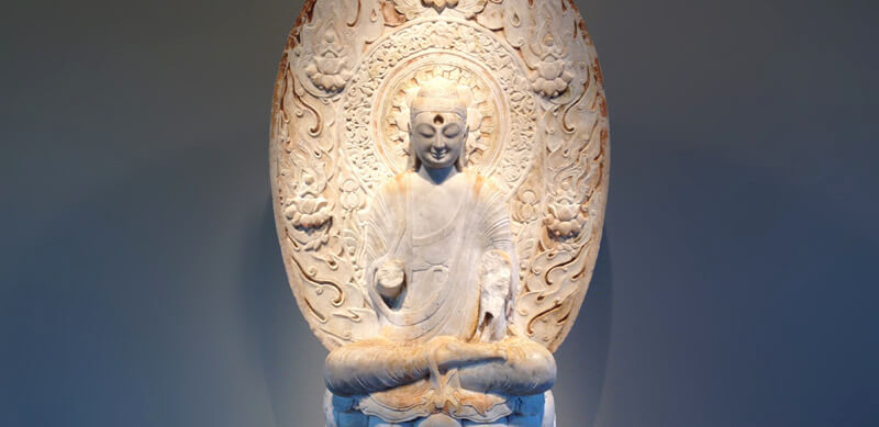 Seated Buddha (8th Century Marble)